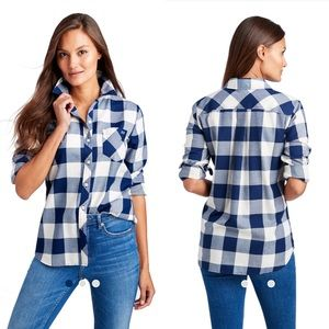 Vineyard Vines Buffalo Check Chilmark Relaxed Top